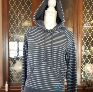 2/$15 American Eagle Size S Striped hoodie